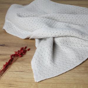 couverture laine mérinos écru