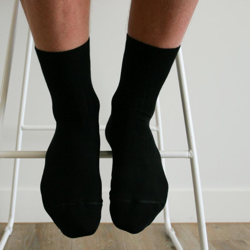 Chaussettes homme mérinos noires