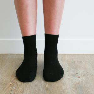 chaussettes en laine noire