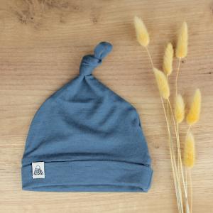 bonnet bleu canard bébé merinos 2021