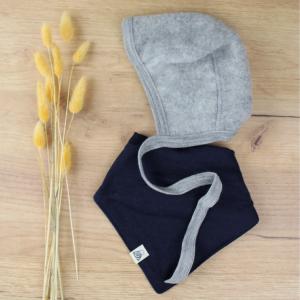 bonnet Engel laine gris