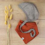 bonnet Engel laine marron