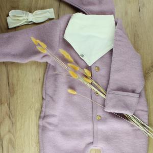 combinaison laine rose