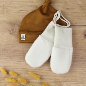 gants engel laine blanc