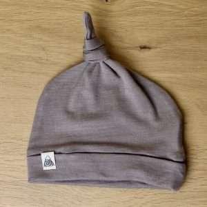 bonnet bébé laine mérinos gris sable