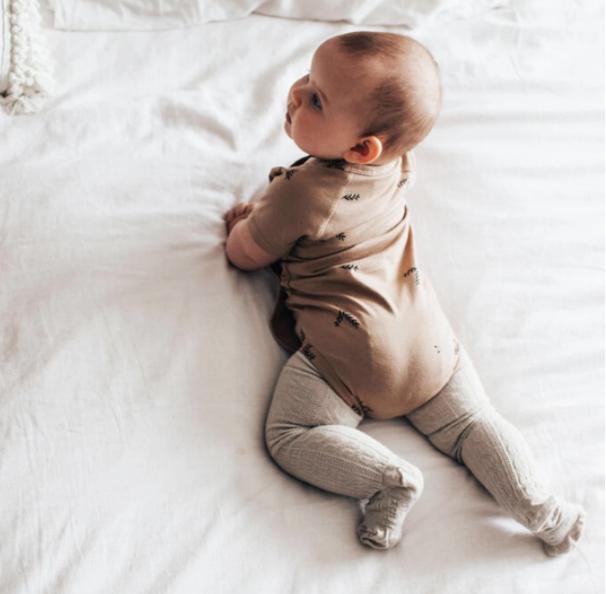 collants laine mérinos bébé oatmeal