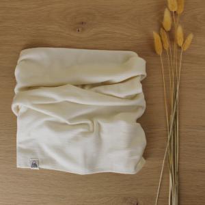 snood laine mérinos enfant vanille fait main