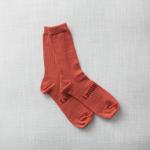chaussettes en mérinos briques