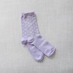 chaussette en laine mérinos violettes enfants
