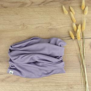 snood tour de cou violet mérinos wp