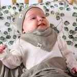 Vêtements en mérinos pour bébé vert d'eau