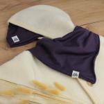 bonnet bavoir iris combinaison ecrue